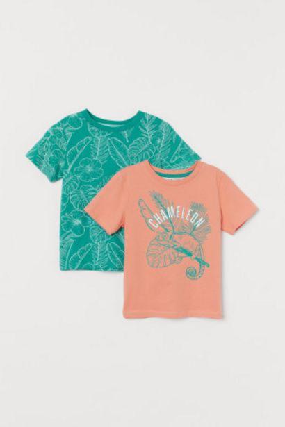 코튼 티셔츠 2장 세트 오퍼, 6900원