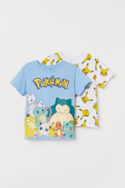 프린트 티셔츠 2장 세트 오퍼, 7900원
