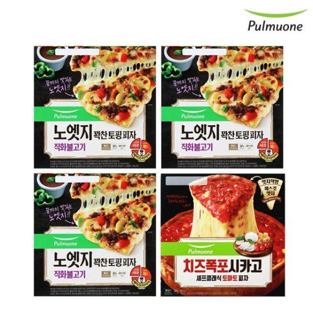 노엣지 피자 직화불고기 3판+시카고 토마토 1판 오퍼, 30420원