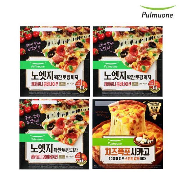 노엣지 피자 페퍼로니콤비네이션 3판+시카고 치즈스위트 갈릭 1판 오퍼, 30420원
