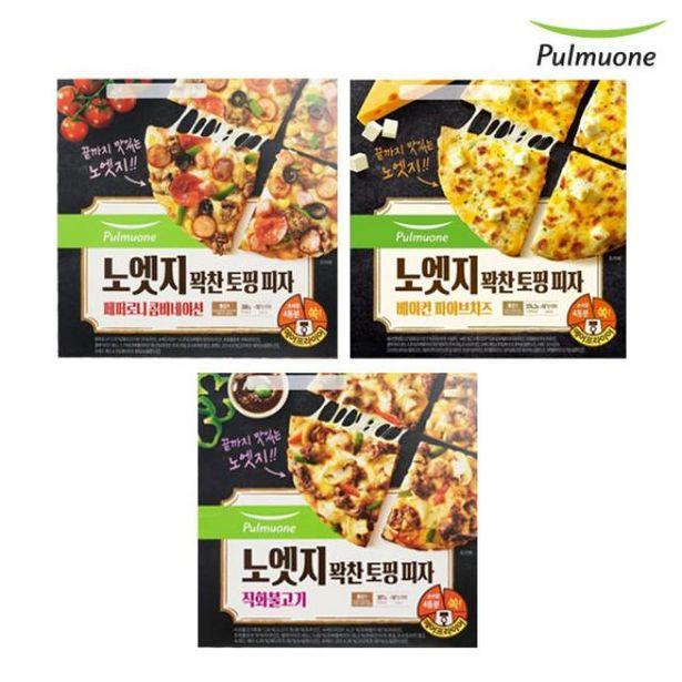 노엣지피자 꽉찬토핑 피자 골라담기 (4판구성) 오퍼, 24900원