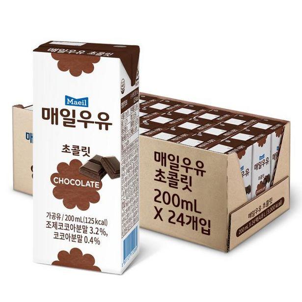 멸균우유 초콜릿 200ML 24팩 오퍼, 10900원