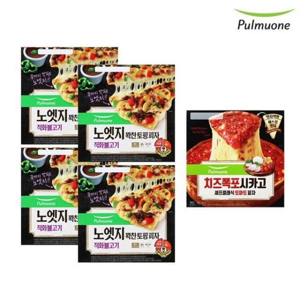 노엣지 피자 직화불고기 4판+시카고 토마토 1판 오퍼, 37400원