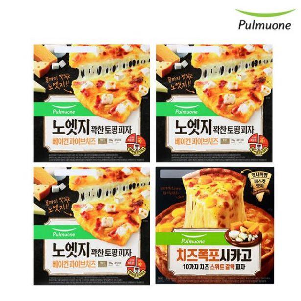 노엣지 피자 파이브치즈 3판+시카고 치즈스위트 갈릭 1판 오퍼, 30420원