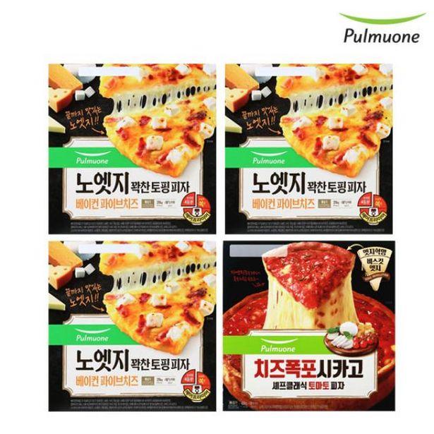 노엣지 피자 파이브치즈 3판+시카고 토마토 1판 오퍼, 30420원