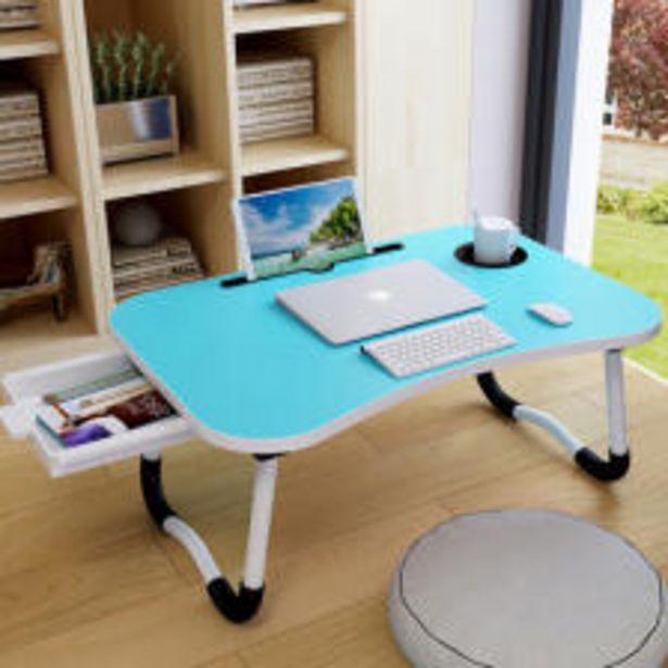 라이프프라임 LS204 우드블루 서랍형 접이식 베드테이블 다용도 좌식테이블 노트북 컵홀더 보조책상 오퍼, 11500원