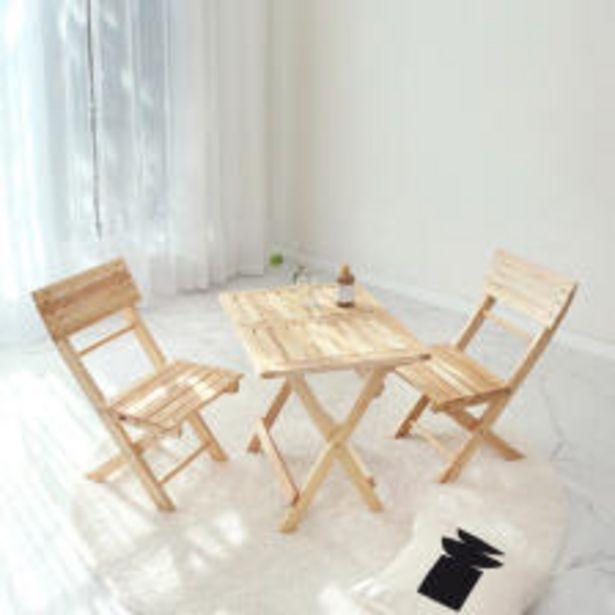원목 접이식 미니 카페 테이블&의자 세트 오퍼, 96900원