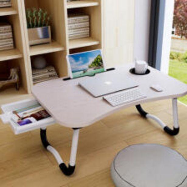 라이프프라임 LS204 캐모우드 서랍형 접이식 베드테이블 다용도 좌식테이블 노트북 컵홀더 보조책상 오퍼, 11500원